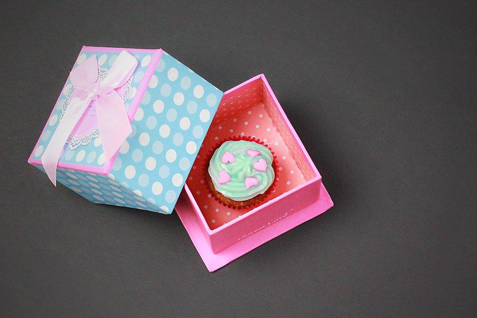 valentin nap cupcake
